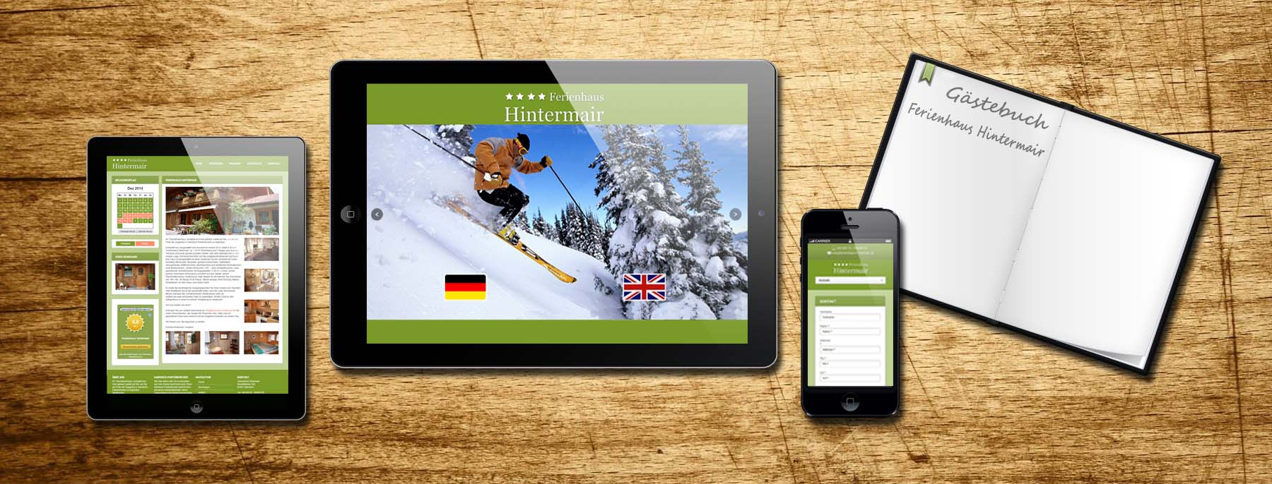 Website Ferienhaus